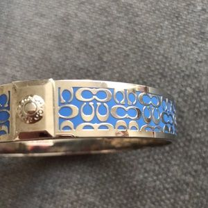 "Coach Jewelry - blue and silver coach signature ""c"" bangle"
